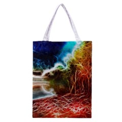Abstract On The Wisconsin River Classic Tote Bag