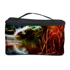Abstract On The Wisconsin River Cosmetic Storage Case