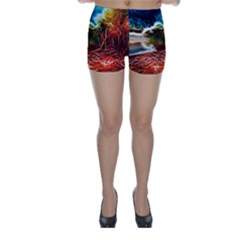 Abstract on the Wisconsin River Skinny Shorts