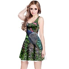 Peacock with roses Sleeveless Dress