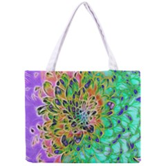 Abstract Peacock Chrysanthemum Tiny Tote Bag