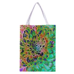 Abstract peacock Chrysanthemum Classic Tote Bag