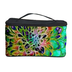 Abstract peacock Chrysanthemum Cosmetic Storage Case