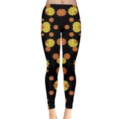 Floral Print Modern Style Pattern Leggings