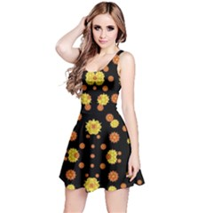 Floral Print Modern Style Pattern Sleeveless Dress