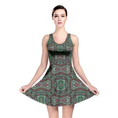 Tribal Ornament Pattern  Reversible Skater Dress