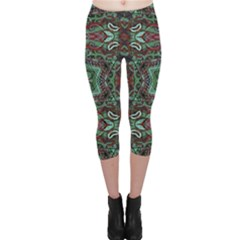 Tribal Ornament Pattern  Capri Leggings