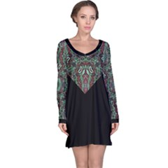 Tribal Ornament Pattern  Long Sleeve Nightdress