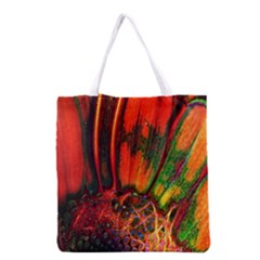 Abstract Of An Orange Gerbera Daisy Grocery Tote Bag
