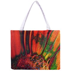 Abstract of an Orange Gerbera Daisy Tiny Tote Bag