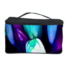Abstract Purple Tulips Cosmetic Storage Case