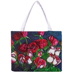Abstract Red And White Roses Bouquet Tiny Tote Bag