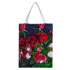 Abstract Red and White Roses Bouquet Classic Tote Bag