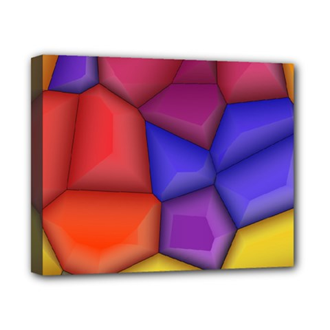 3d Colorful Shapes Canvas 10  X 8  (stretched)
