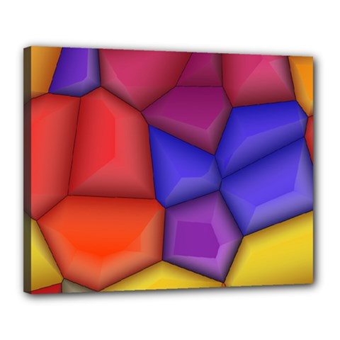 3d Colorful Shapes Canvas 20  X 16  (stretched)