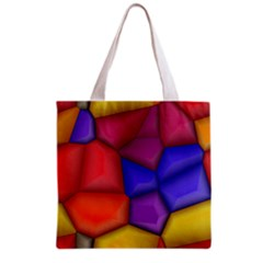 3d colorful shapes Grocery Tote Bag