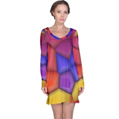3d colorful shapes nightdress
