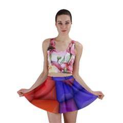 3d colorful shapes Mini Skirt