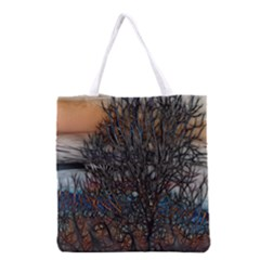 Abstract Sunset Tree Grocery Tote Bag