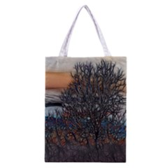 Abstract Sunset Tree Classic Tote Bag