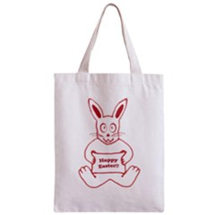 Cute Bunny With Banner Drawing Classic Tote Bag