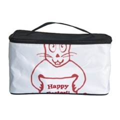 Cute Bunny With Banner Drawing Cosmetic Storage Case