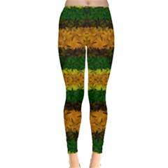 Tribal Floral Pattern Leggings