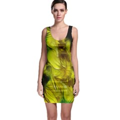 Abstract Yellow Daffodils Bodycon Dress