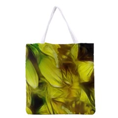 Abstract Yellow Daffodils Grocery Tote Bag