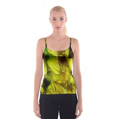 Abstract Yellow Daffodils Spaghetti Strap Top