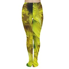 Abstract Yellow Daffodils Tights