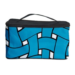 Blue distorted weave Cosmetic Storage Case