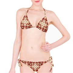 Floral Geometric Collage Bikini