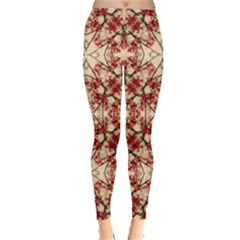 Floral Geometric Collage Leggings