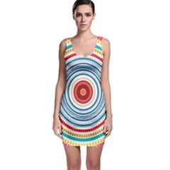 Colorful Round Kaleidoscope Bodycon Dress