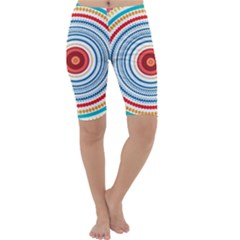 Colorful Round Kaleidoscope Cropped Leggings