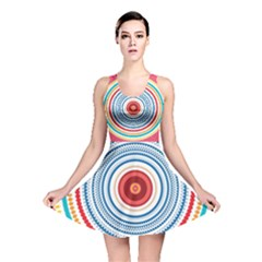 Colorful Round Kaleidoscope Reversible Skater Dress
