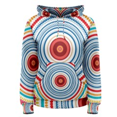Colorful round kaleidoscope Pullover Hoodie