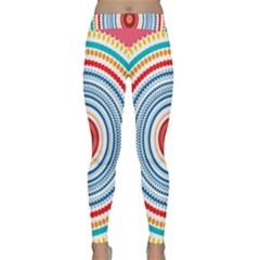 Colorful Round Kaleidoscope Yoga Leggings