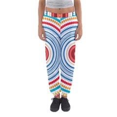 Colorful round kaleidoscope Women s Jogger Sweatpants