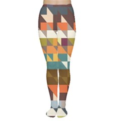 Shapes In Retro Colors Tights