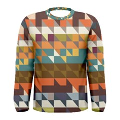 Shapes in retro colors Long Sleeve T-shirt (Men)