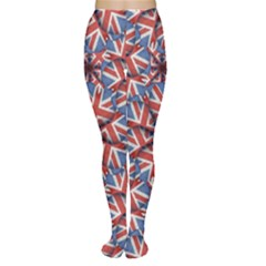Heart Shaped England Flag Pattern Design Tights