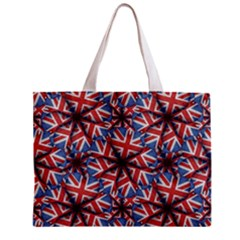 Heart Shaped England Flag Pattern Design Tiny Tote Bag