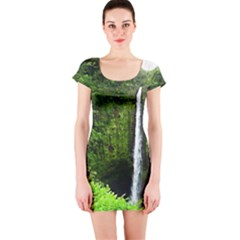 Akaka Falls Short Sleeve Bodycon Dress