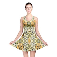 Art Print Tribal Style Pattern Reversible Skater Dress