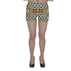 Art Print Tribal Style Pattern Skinny Shorts
