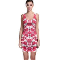 Floral Print Swirls Decorative Design Bodycon Dress
