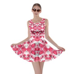 Floral Print Swirls Decorative Design Skater Dress