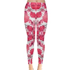Floral Print Swirls Decorative Design Leggings